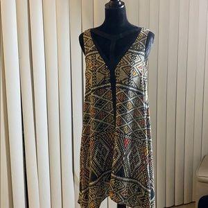 BCBG multi patterned casual dress